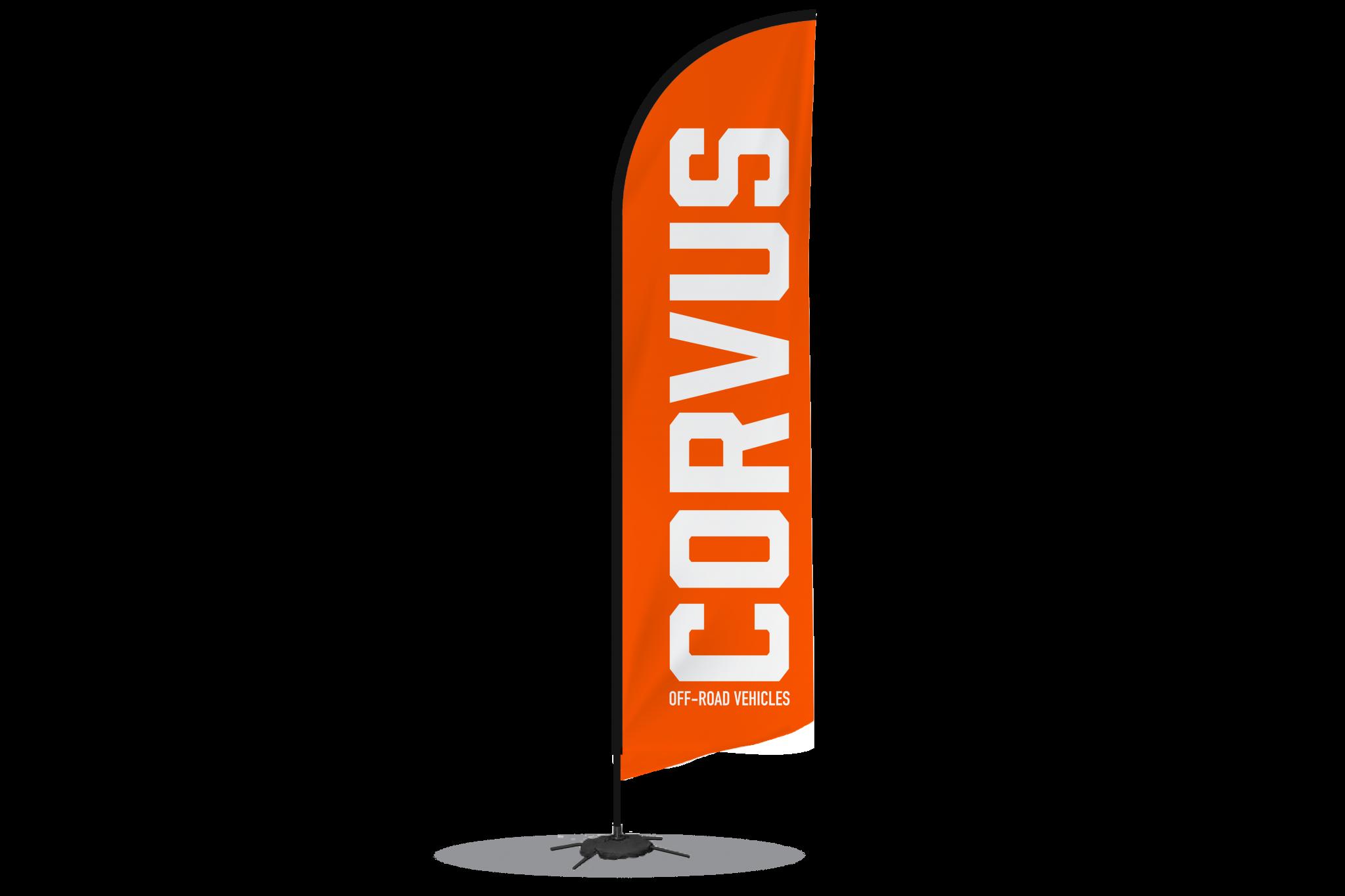 Bandera CORVUS grande